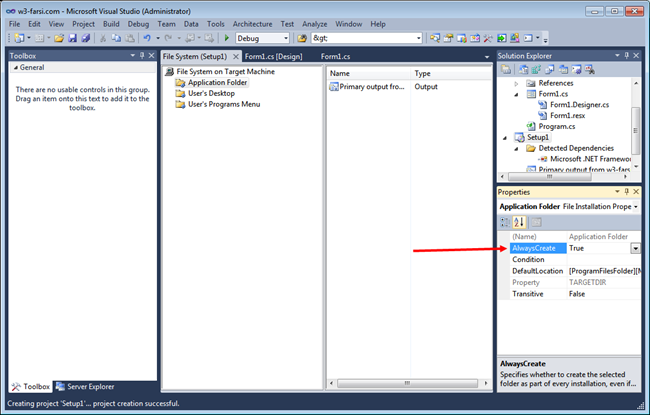 Create-Setup-in-Visual-Studio-10